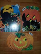 Vintage Decorations Halloween Diecuts Cutouts HMS #311 to #313  U Pick NOT a LOT