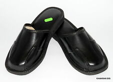 Top Mens Handmade leather slippers,mules, sandals 7-11,5, 41-46 (Hausschuhe)