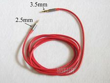 New 2.5mm to 3.5mm Male to Male Audio Aux Stereo TRS Cable Cord