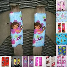 Seatbelt Cover Pads Cars George Frogs Doc OZ Abby Sofia Ballet Dora Dino Snoopy