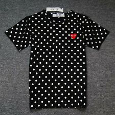 "COMME Des GARCONS CDG (12) ""PLAY RED HEART"" MEN'S SHORT SLEEVE T- SHIRT BLACK"