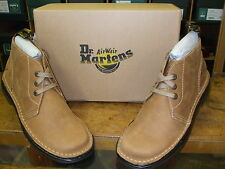 MENS PEANUT JAKE LEATHER LACE UP CHUKKA BOOTS SIZES 7 + 8
