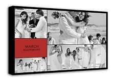 Your Photo Collage Canvas Print - Personalised on Box/Wrapped d1000
