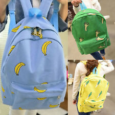 New Girls Canvas Leisure Students School Bookbag Travel Hiking Backpack Rucksack
