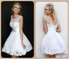 Short Beaded Sweetheart PromGown Party Bridesmaid Cocktail Evening Dress UK:4-20