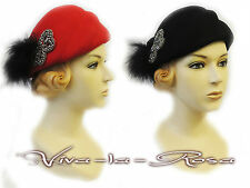 New Ladies Vtg 1920's 30's Downton Abbey Gatsby Charleston Flapper Cloche Hat
