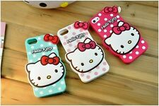 For Apple iPhone 6 5s 5 5c 4s 4 3D Hello Kitty Carton Silicone Soft Phone Case