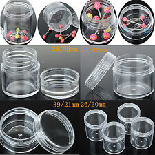 Small Plastic Round Clear Retangle Storage Container Jewelry Bead Display Boxes