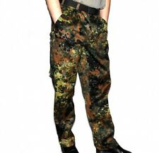 Genuine German Army Field Pants Bundeswehr BW Trousers Flecktarn Size 7 ,12 NEW