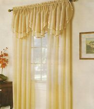 """Solid Sheers Voile Panels - 60"""" X 63"""" (Ascot Valance Sold Seperatly)"""