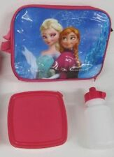 Frozen Lunch Box School Bag Elsa Anna pink insulated sandwich box bottle