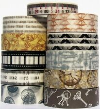 Washi Tape Paper For Father Clock Steampunk Film Strip Moustache Tape Measure