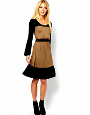 *NEW*French Connection Colour Block Vintage Skater Dress 6-8 Long Sleeve, Warm