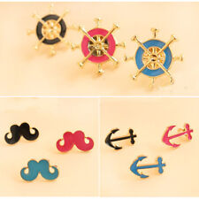 New Fashion Popular Design Personality Vogues The Beard Anchor Brooch Ties Pin