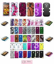 Silicone Rubber TUFF HYBRID Amor Hard Case Cover For KYOCERA Hydro Icon C6730