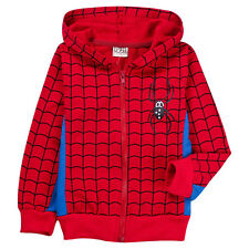 SPIDERMAN CUTE CARTOON HERO KIDS/BOYS COAT/HOODIE ZIPPED 4 OUTDOOR SCHOOL PARTY