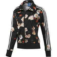 NEW ADIDAS ORIGINALS WOMEN FIREBIRD ROSE FLOWER BLACK TRACK TOP JACKET S M L