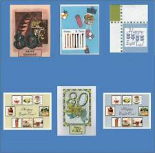 Handmade 80th Birthday Cards -- Free Shipping in USA