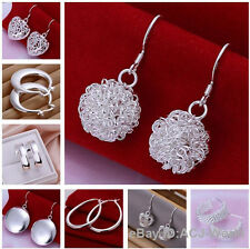 NO.3 Wholesale Hot Sale Fashion Silver Earrings Eardrop 30 style your choice