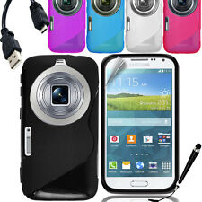 S Curve Gel Cover Case for Samsung Galaxy K Zoom + SP & Stylus & Cable
