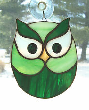 Stained Glass OWL Suncatcher (OWL36)