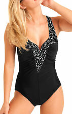 Carol Wior Swimsuit Champagne Bubbles V Neck with Miracle Slim Control NWT 0138