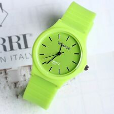 Women's Girls' Silicone Band Watches Korean Fashion Latest Candy-Colored New