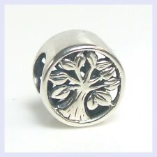 Sterling Silver Silver Tree of Life Go Round Bead for European Charm Bracelet