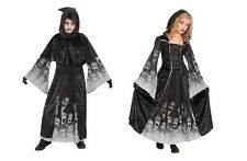 BLACK SOULS GHOST FORGOTTEN PHANTOM GIRL & BOY CHILD HALLOWEEN FANCY DRESS