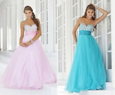 STOCK 2014 HOT Beaded Bridesmaid Quinceanera  Party Cocktail Formal Prom Dresses