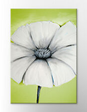 JAPANESE GREEN WHITE TEXTURE FLOWER LARGE CANVAS WALL ART ZEN PICTURE NEW PRINT
