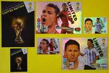 WORLD CUP BRASIL 2014 ICON RONALDO & MESSI & ALL LIMITED EDITION CARDS TROPHY