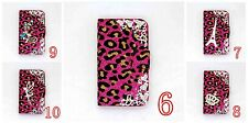3D LUXURY DIAMOND RHINESTONE BLING CRYSTAL COVER WALLET CASE FOR MOBILE PHONES 4