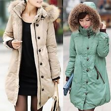 Women's Fashion Down jacket Thicken Loose pregnant woman Coat Large size S-6XL