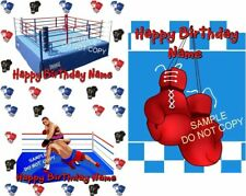 EDIBLE CAKE IMAGE  BOXING GLOVES  RING BIRTHDAY & MORE  ICING SHEET PARTY TOPPER