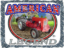 601 WORKMASTER FORD TRACTOR ANTIQUE AMERICAN LEGEND PRINTED T-SHIRT SMALL-4XL