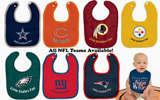 """NFL NEW """"Little Fan"""" Team Colored Baby Bib - CHOOSE YOUR TEAM"""