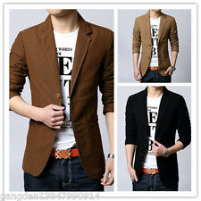 New ! 3 colors Stylish Men's Casual Slim fit One Button Suit Blazer Coat Jackets