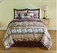 Floral Complete 7 Piece Bedroom Sheet Comforter Bed Set Queen king Size bed