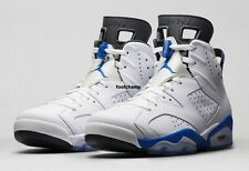 "Air Jordan Retro 6 VI ""Sports Blue"" GS White Royal Black SZ 5C-7y 384664-107"