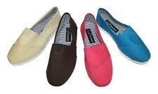 Women Canvas Slip-on Flats Black,Red,Pink,Aqua, Brown, LOW PRICE FREE SHIPPING!!