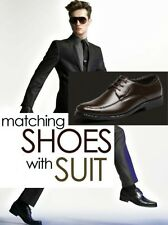New! Leather Men's Shoes Business Formal wedding dress Brogue Pointed Toe carved