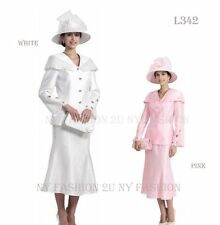 New Lynda's 3pc Women Dress, Church Skirt Suits Sets L-342