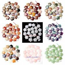 20mm Natural 12 Material Stone Flowers Shape Gemstone Loose Beads Strand 20Pcs