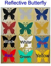 1x Reflective Butterfly - Glossy Stickers For Car or Home Decal # A00
