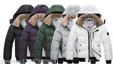 Men's Fur collar Cotton Padded Winter Coat Fashion Parka Overcoat hooded jacket