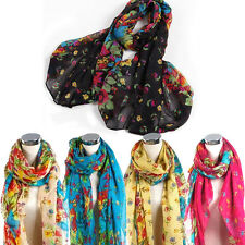 Beautiful Womens Ladies Floral Flower Scarf Shawl Stole Wraps  Scarves