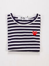 COMME DES GARCONS CDG PLAY NAVY STRIPED RED HEART