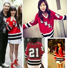 Park Bom Roomate KPOP 2NE1 Long-sleeved Red T-Shirt CL SanDara Minzy Concert Tee