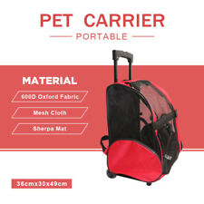 Portable Pet Soft Crate Dog Cat Carrier Airline Travel Backpack Bag Trolley New